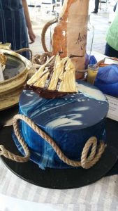 An amazing nautical-themed cake at the Stamford Hotel