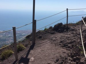 Mt Vesuvius – an active volcano, but not when I visited!