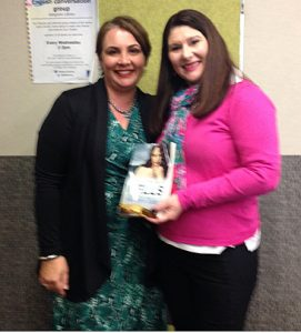 Christine Wells and Michelle Beesley at Christine's Brisbane book signing