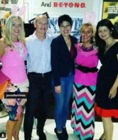 Jennifer, Campbell Newman, Lisa Newman (Zonta Vice President), Michaela, and Amena Reza (Zonta President)