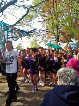Cheerleaders Hereford River Carnival 2016, Wye Festival, River Wye
