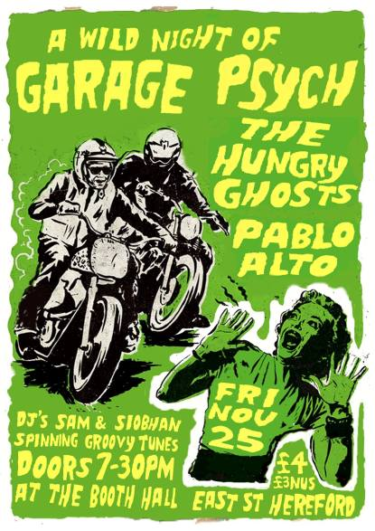 The Hungry Ghosts, Pablo Alto, The Underground Revolution Garage Psych Night