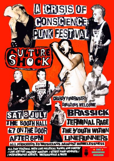 A Crisis of Conscience Hereford Punk Festival for Musicians Against Homelessness at The Booth Hall