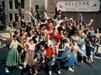 """A Shot of the Rydell High Pep Rally in """"Grease"""""""