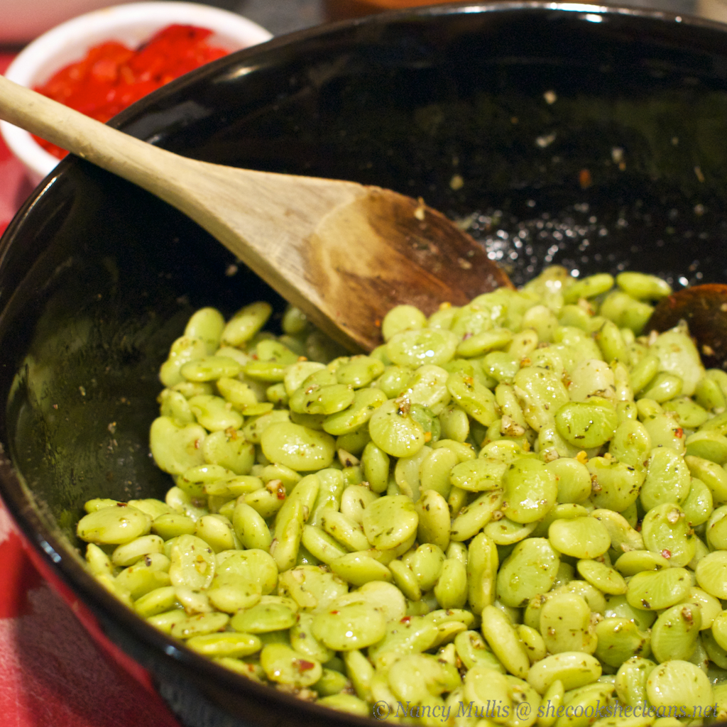 Roasted Lima Beans With Italian Herbs