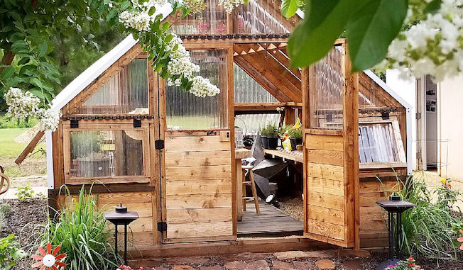 The Backyard Greenhouse - ShedBuilder Magazine on Hhh Outdoor Living  id=20412