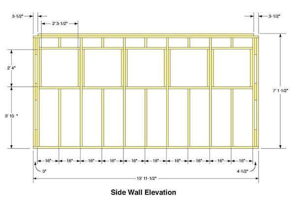 7 215 14 Gable Shed Plans Amp Blueprints For Making A Large