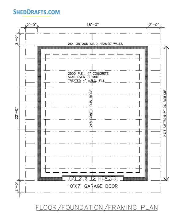 Framing Plans For Garage | Nakanak org