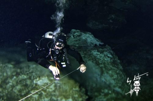 Markus diving Chikin ha Cave