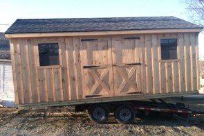 Pine board and batten shed delivery