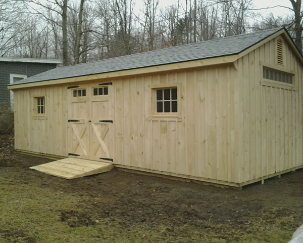 12X28 Pine Board and Batton Shed delivered to Craryville N Y  - Shed
