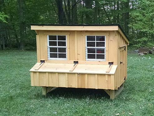 Recent jobs chicken coop and horse barn and run in shed installations