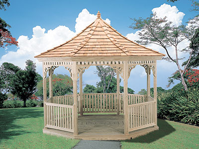 See our full line of wood and vinyl gazebos