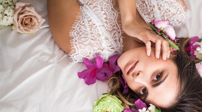 Bridal Flower Themed Boudoir Shoot