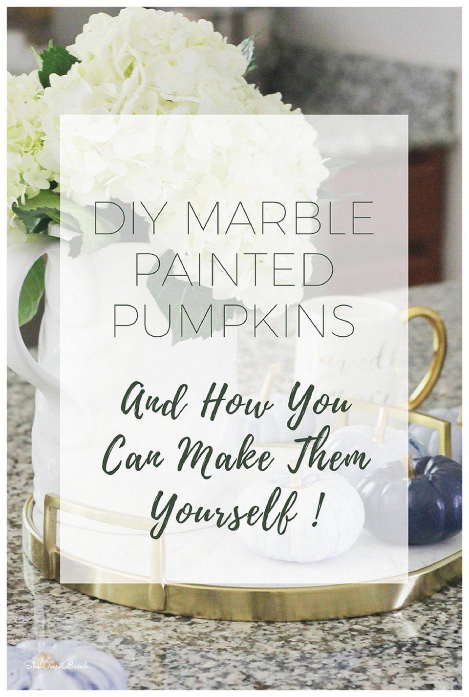 Marble Painted Pumpkins
