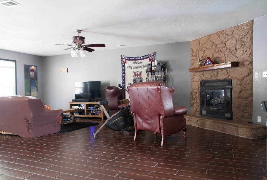 First Rental Property Living Area & Fireplace