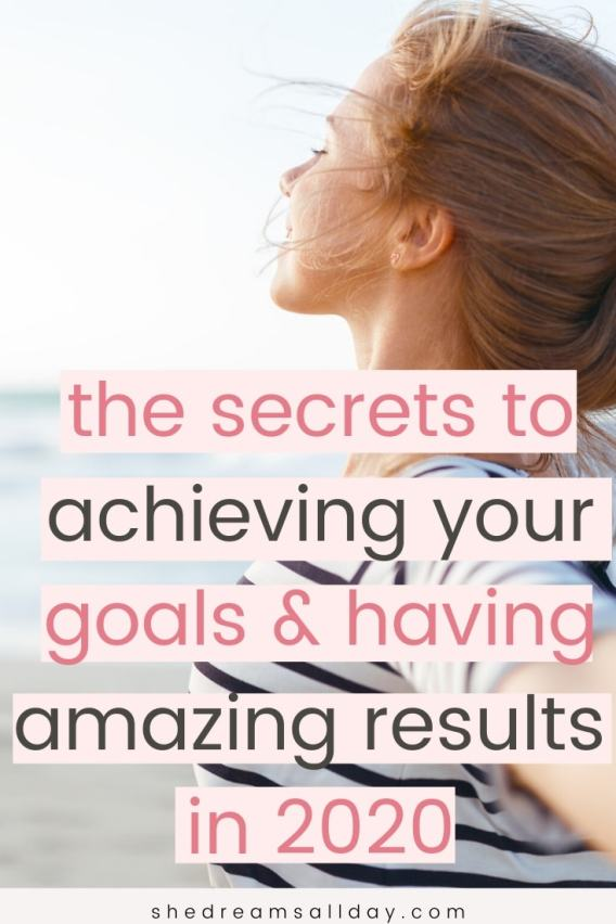 how to achieve your goals in 2020