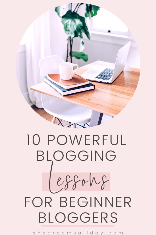 Blogging lessons for beginner bloggers