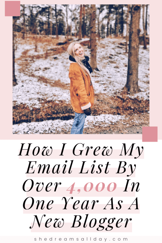 how i grew my email list by thousands as a new blogger