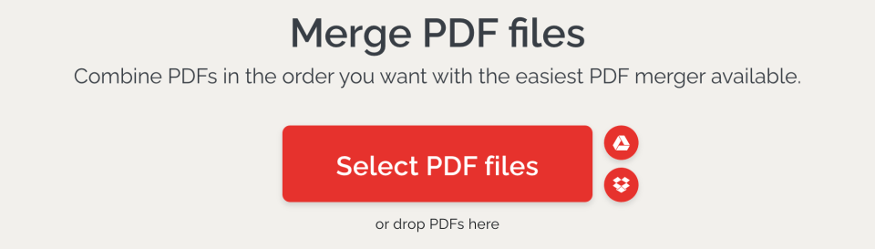 ilove pdf for merging ebook cover and content