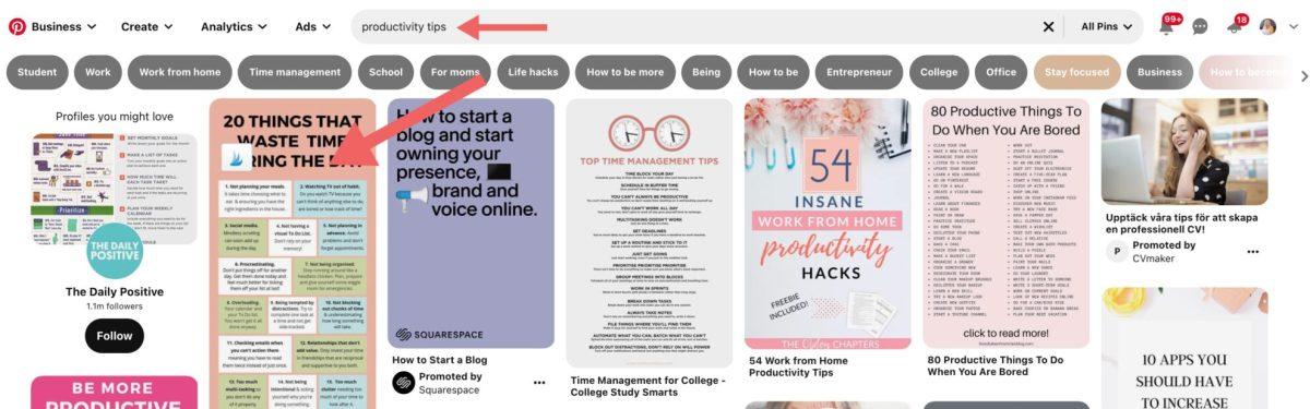 blog traffic tips using Pinterest