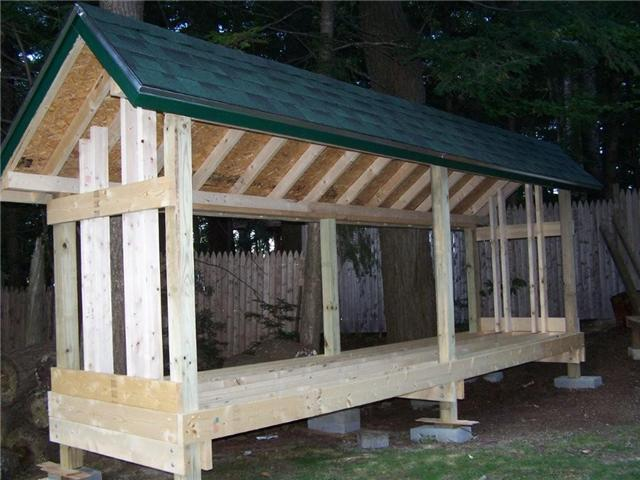 how to build wood shed