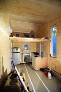 """1/4"""" Plywood Paneling is done and the seams are spackled!"""