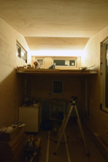 A mock up test for our indirect loft lighting idea.