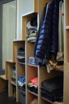 Clothes/cat closet.