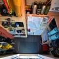 Birds eye view of gear room