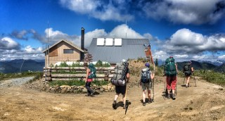 Arriving at High Hut, WA July 2016