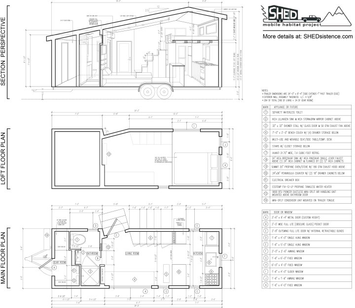 SHED dimensioned floor plan small
