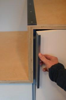 Under stair storage door details
