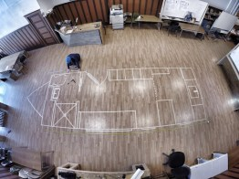 Life size floor plan in Yakima Maker Space!