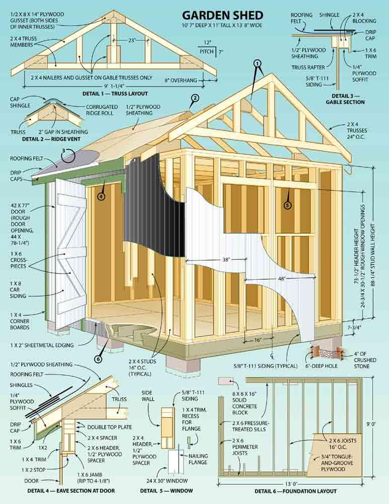 Backyard Shed Blueprints