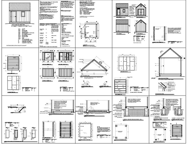 shed plans free 10x12