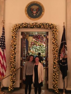 Me and a friend on the WH Holiday Tour