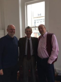 Col, Ian and Dave, ex-editors of News bulletina