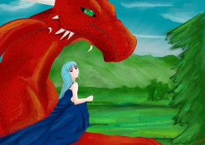 Kaia and Dragon