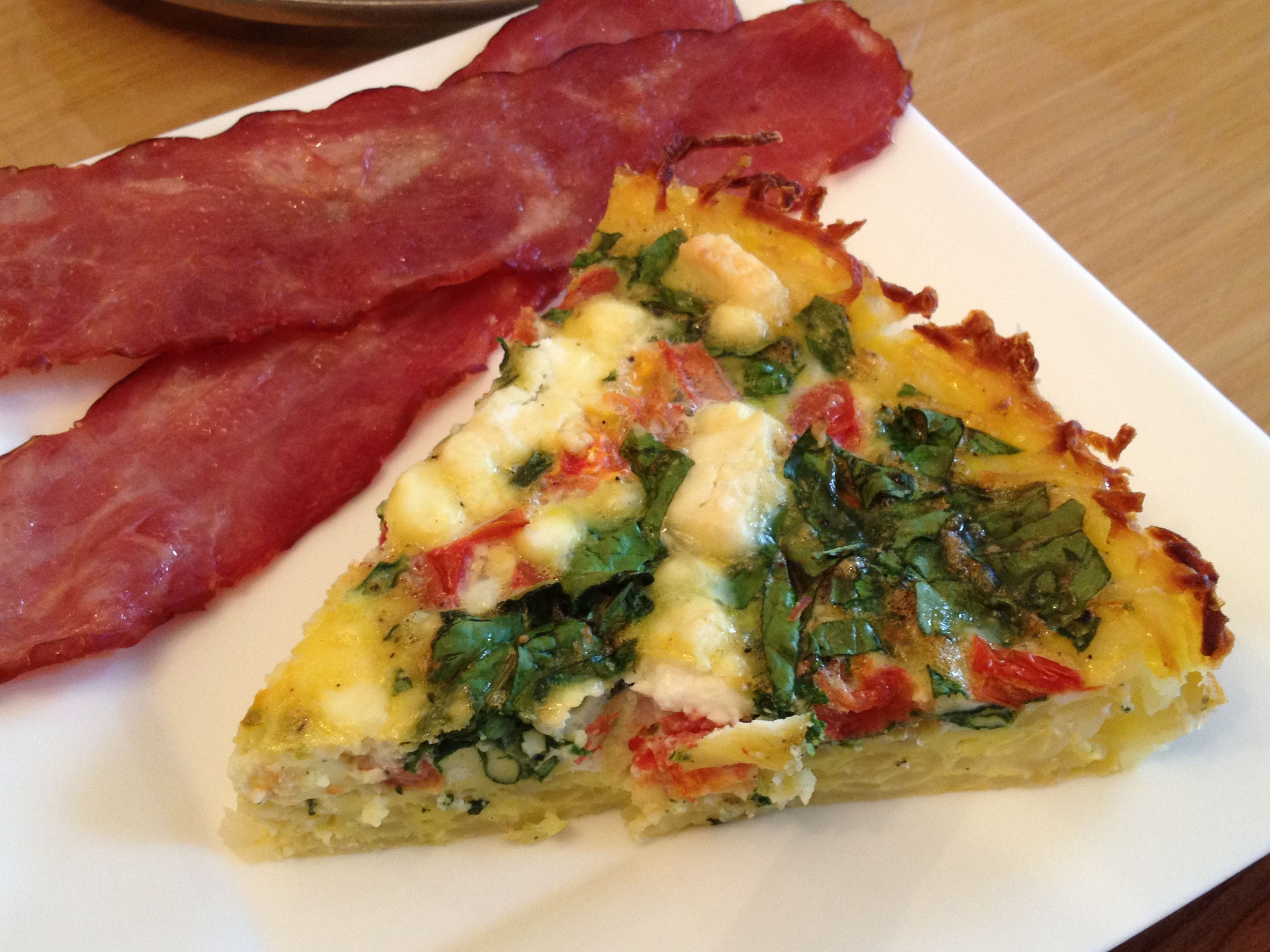 Spinach, Tomatoes & Goat Cheese Breakfast Pie - Culinary Tuesdays