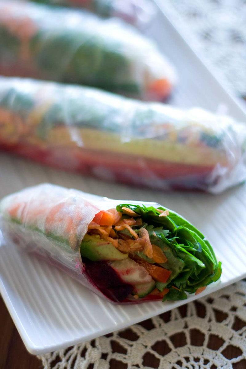 Veggie Rice Wraps |SheenaScott.com