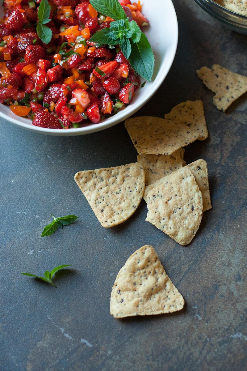 Wild Strawberry Mint Salsa | SheenaScott.com