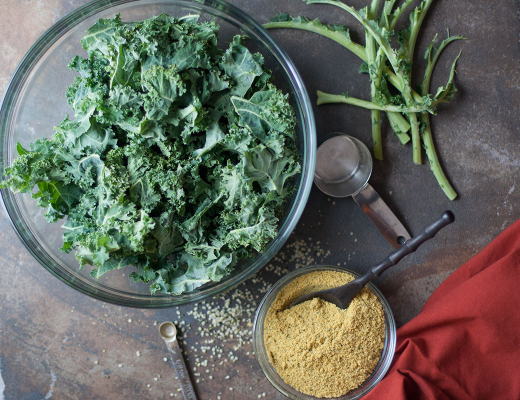 Paleo Parmesan & Cheesy Kale Chips