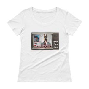 Women's Broken News Scoopneck T-Shirt
