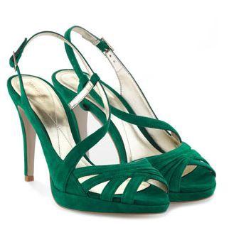 Green wedding heel   20 unique and wearable Wedding Shoes   More shoespiration at sheerbride.com #bridal #wedding #wedding shoes #heels