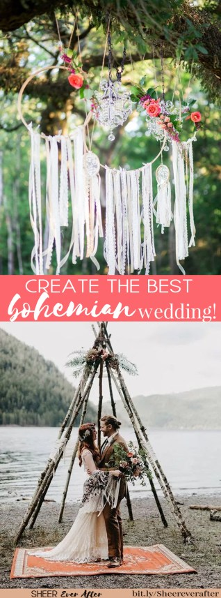 How to create the best boho wedding | Sheer Ever After weddings | bit.ly/Sheereverafter