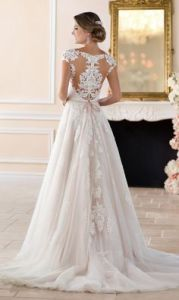 Romantic traditional wedding dress @SheerEverAfter