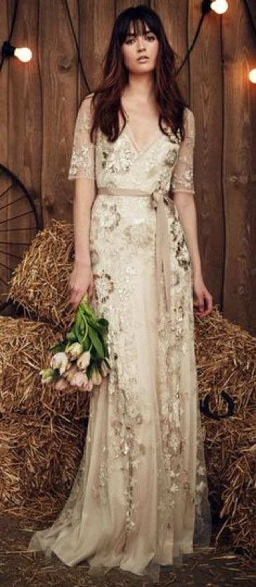 Champagne & Nude Wedding dress inspiration - @Sheer ever after