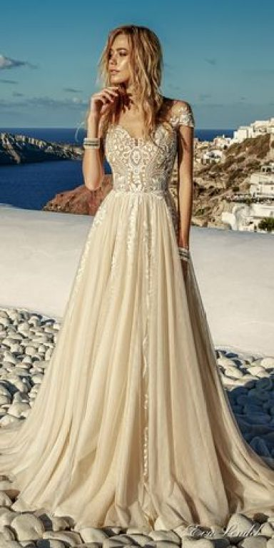 Champagne and nude wedding dress inspiration @Sheer ever after