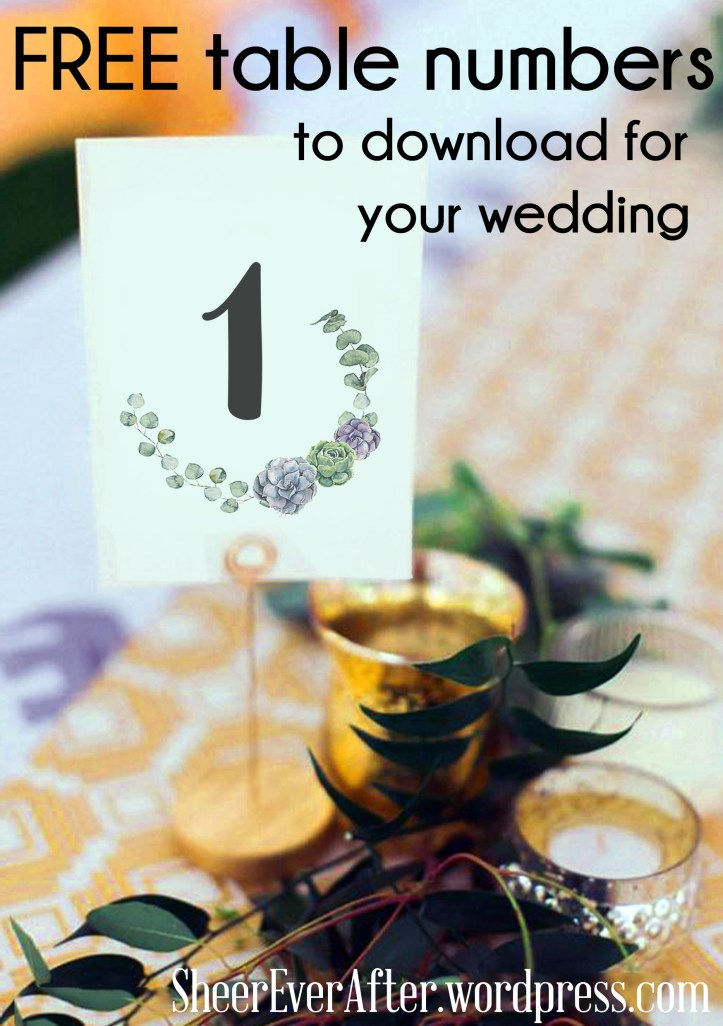 free table number printable for you
